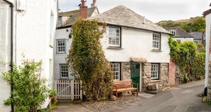 Port Isaac, Cornwall. Street view in Port Isaac in north Cornwall royalty free stock images