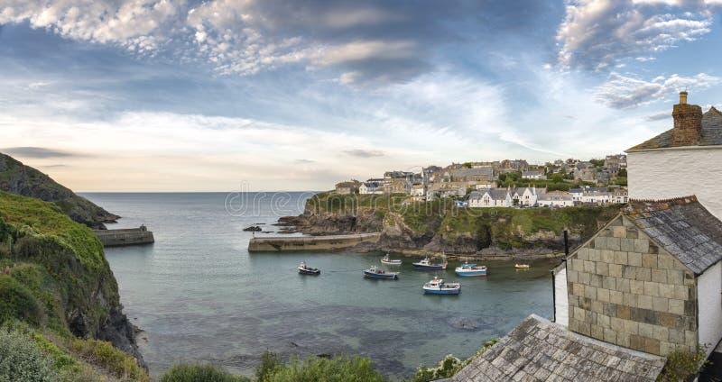 Port Isaac i Cornwall arkivbilder