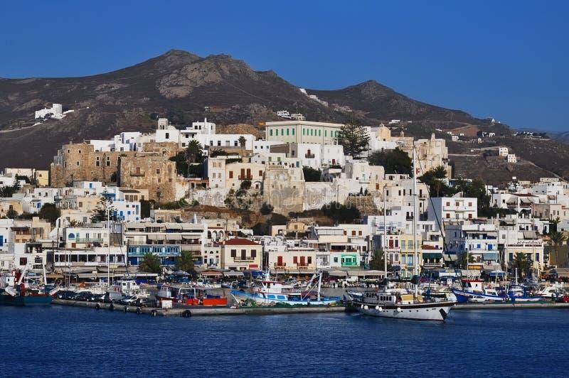 Port on the island of Naxos. Greece royalty free stock photo
