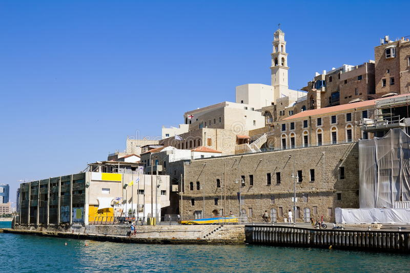 The port at Jaffa in Israel. On a sunny day royalty free stock image