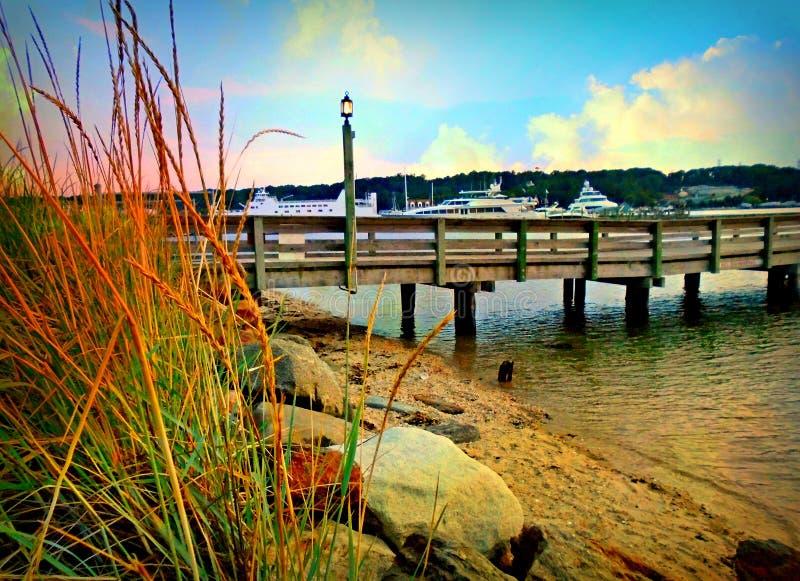 Port Jefferson Pier photographie stock libre de droits