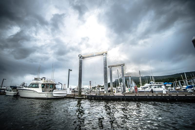 Port of juneau alaska and street scenes royalty free stock image