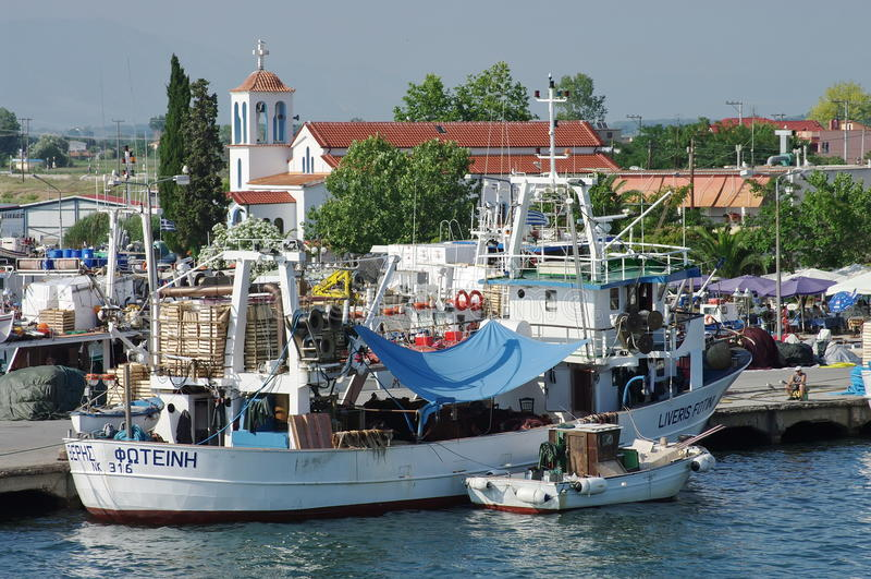 Port Keramoti, Grekland royaltyfri bild