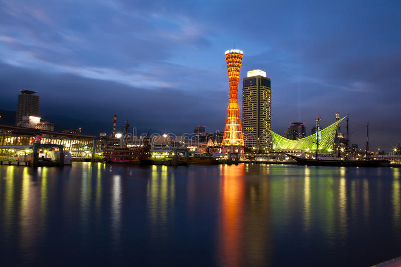Download The Port of Kobe editorial stock image. Image of buildings - 19848169