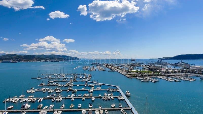 Port of La Spezia, Italy.  royalty free stock images