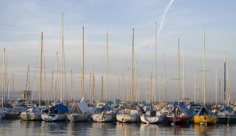 Port in Lausanne royalty free stock photography