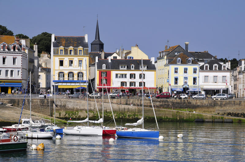 Port Of Le Palais At Belle Ile In France Stock Images