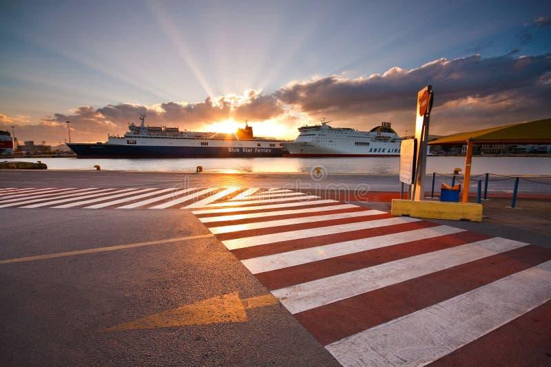 Port Le Pirée, Athènes de passager photo stock