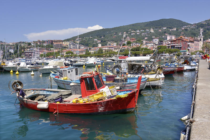 Port of Lerici in Italy royalty free stock photos