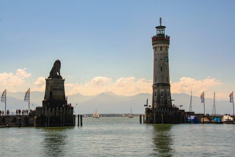 Port Lindau zdjęcie stock
