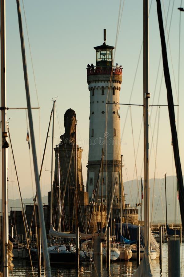 Port Lindau Lighthouse Royalty Free Stock Photo