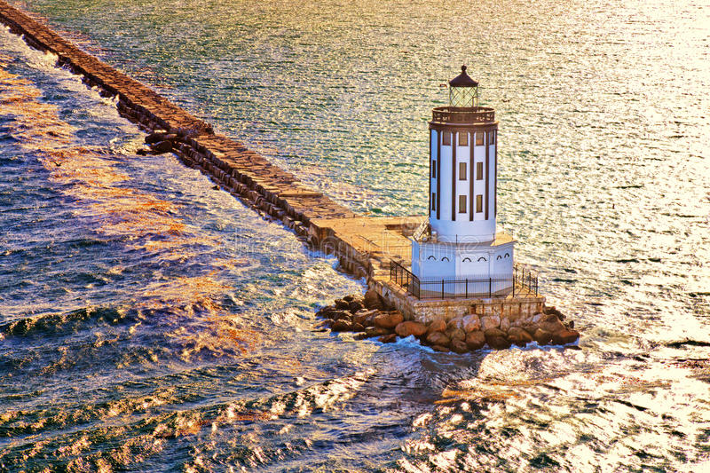 Port of Los Angeles Lighthouse stock photography