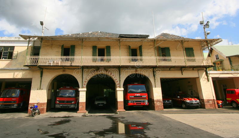 Port Louis Fire Station image stock