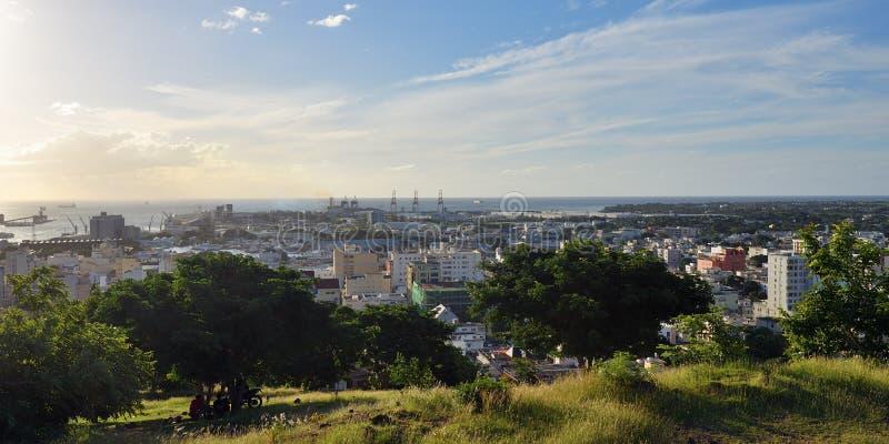 Port-Louis la capitale des Îles Maurice photo libre de droits
