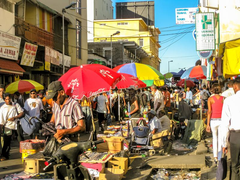 Port Louis Market stock photography