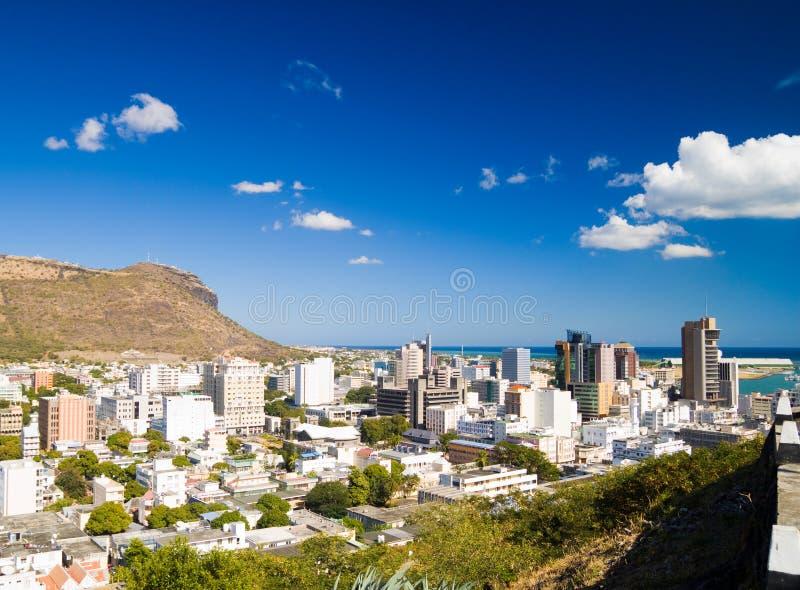 Port Louis Maurícia imagem de stock