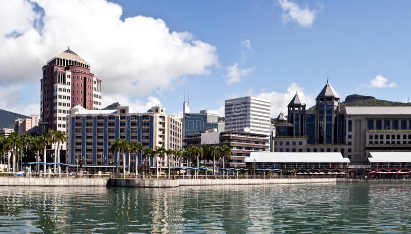 Port Louis Waterfront - Mauritius stock photography