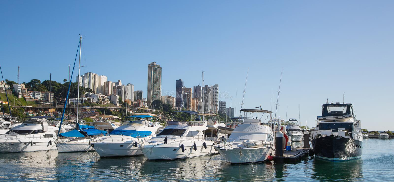 Port lub marina salvador de bahia w Brazylia fotografia stock
