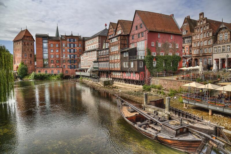 Port Luneburger w Luneburgu, Niemcy obraz royalty free