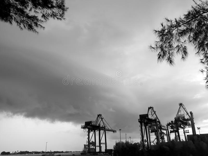 Port of Makassar royalty free stock photo