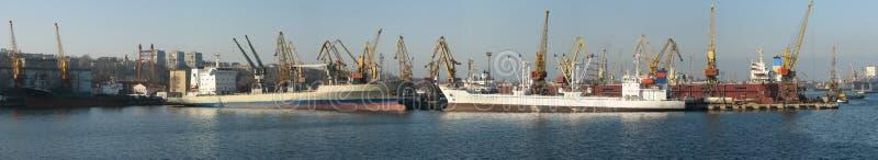 Port maritime d'Odessa photo libre de droits