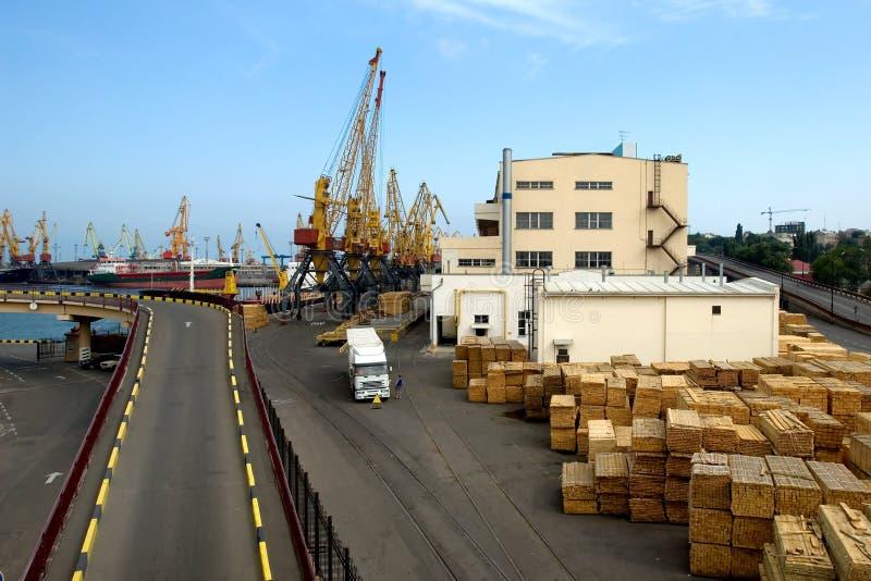 Port maritime d'Odessa images stock
