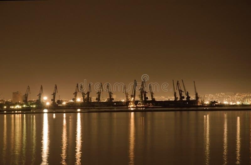 Port maritime de Bakou photos libres de droits