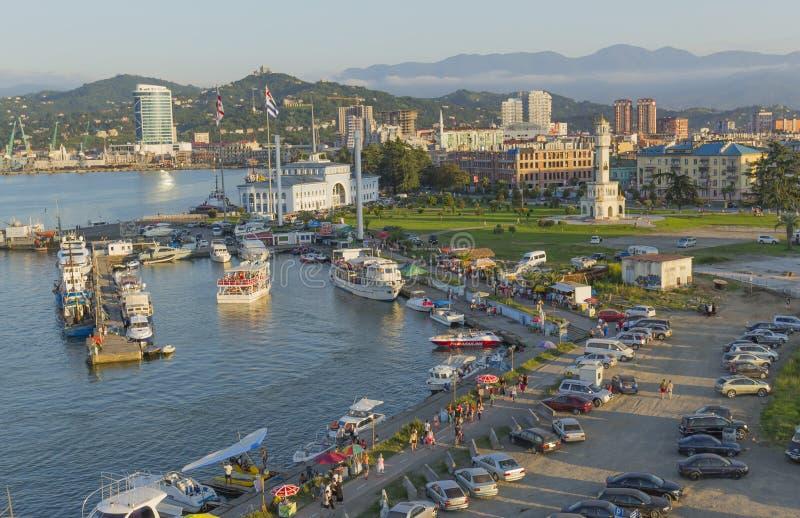 Port maritime de Batumi, la Géorgie photo libre de droits