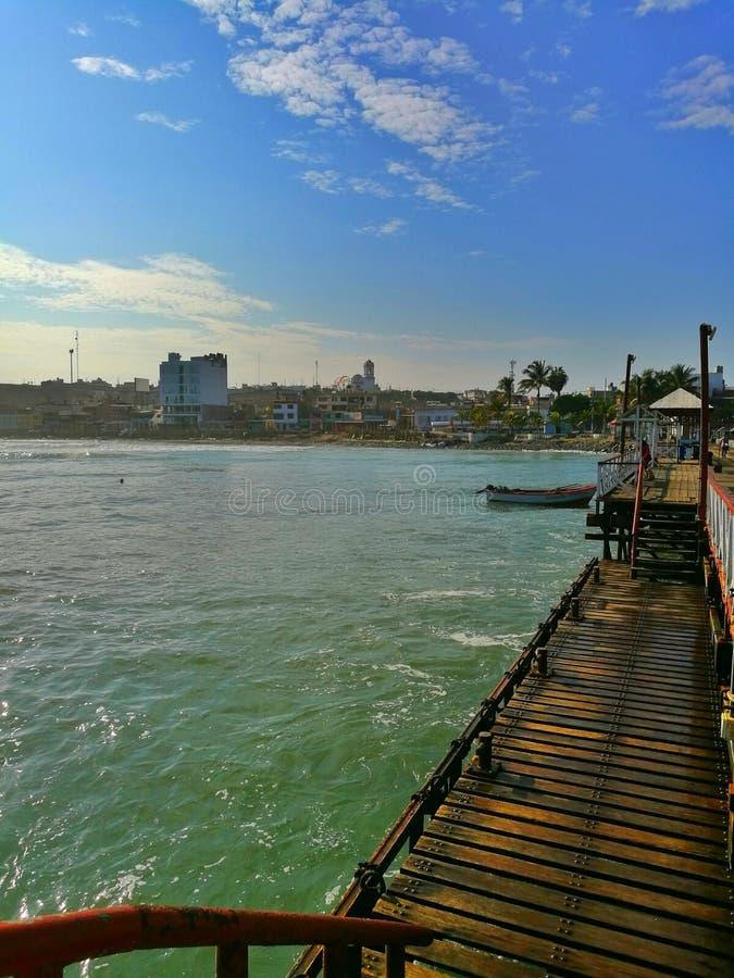 Port maritime de Huanchaco image libre de droits