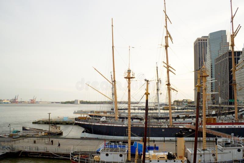 Port maritime du sud de rue, NYC photos libres de droits