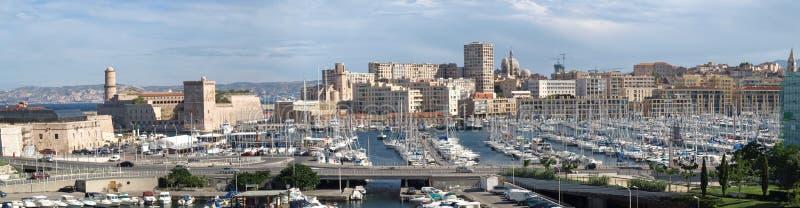 port Marsylii frontowe stary obraz stock
