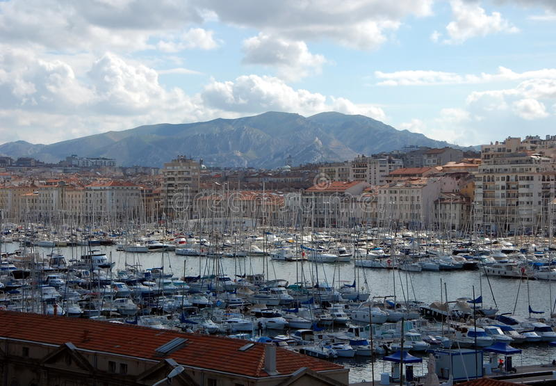 Port Marsylski, Francja fotografia royalty free