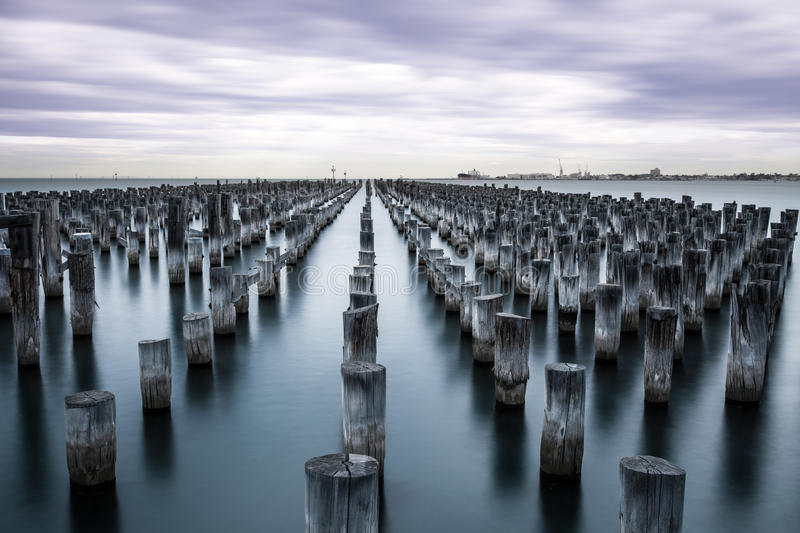 Port Melbourne. A peaceful day in port Melbourne stock photography