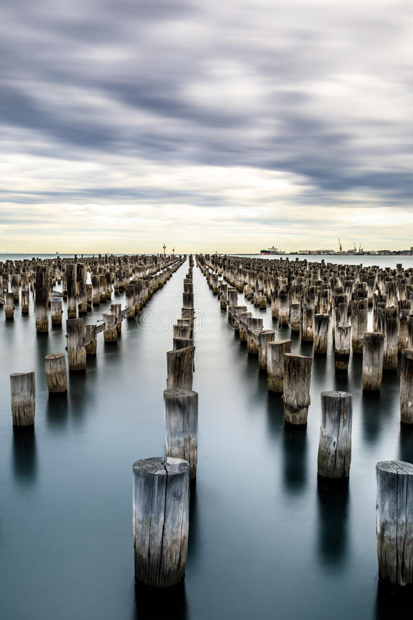 Port Melbourne. A peaceful day in port Melbourne royalty free stock photos