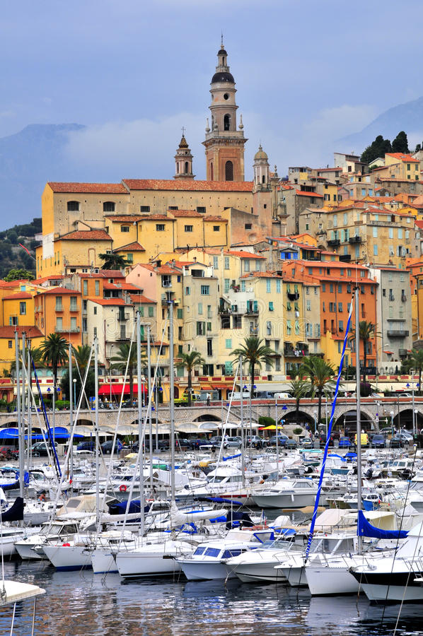 Port of Menton in France royalty free stock photography