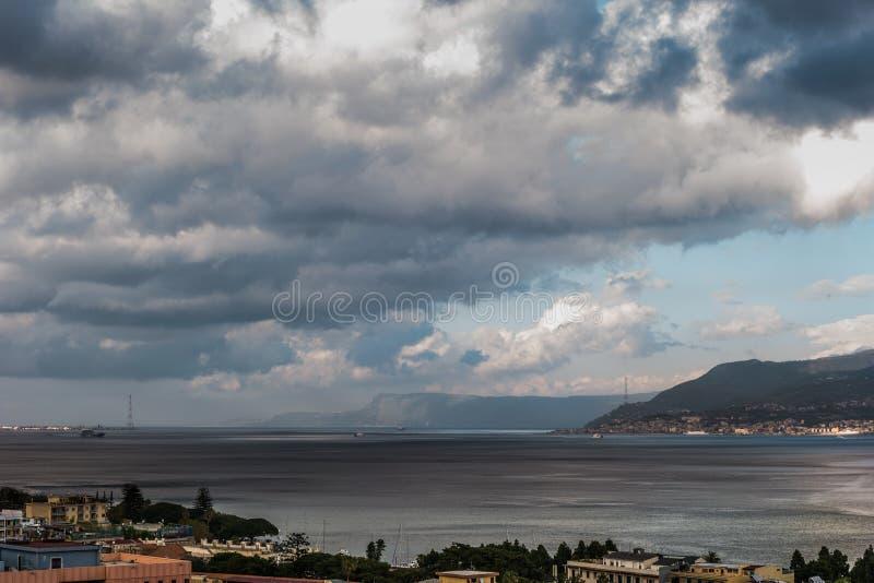 Port Messina w Sicily obraz stock