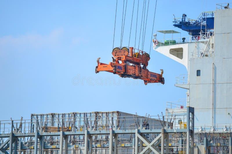 Port mexicain de Veracruz images libres de droits