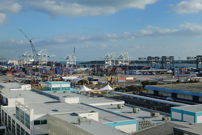 Port Of Miami Editorial Stock Image
