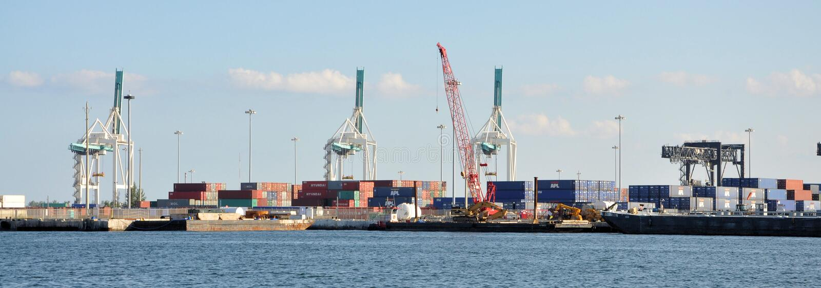 Download Port of Miami editorial image. Image of crane, shipment - 26731070