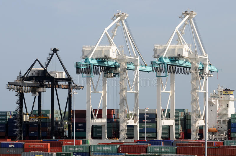 Port of Miami activity stock images