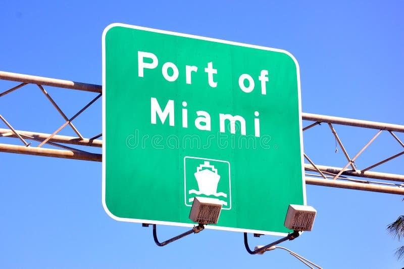 Port Miami kierunek obrazy stock