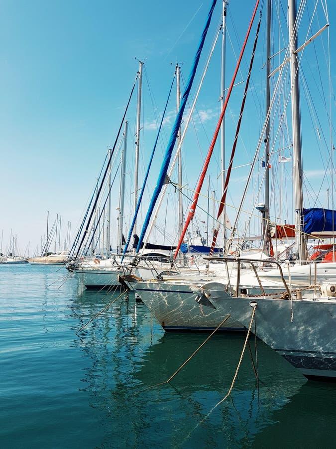 Port miasto Toulon, France obraz royalty free