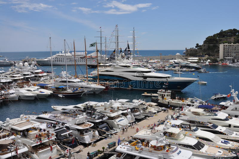 Port Of Monaco During The Grand Prix 2010 Editorial Photography
