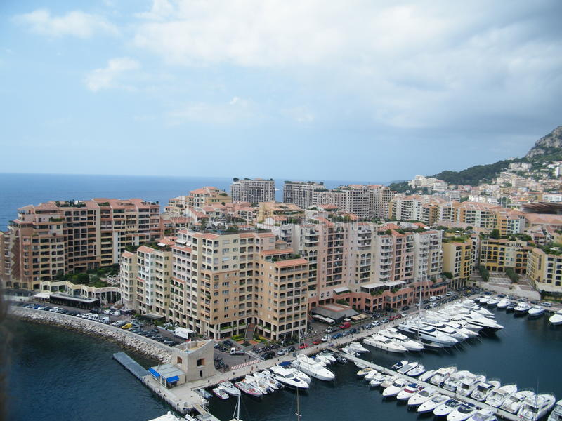 Port in Monaco. The view on the port in Monaco (France stock photography
