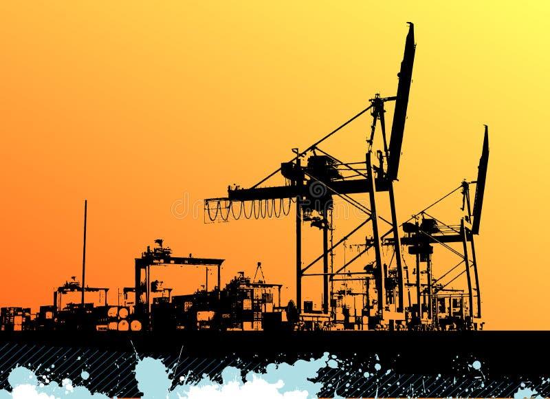 port morski wektor ilustracji