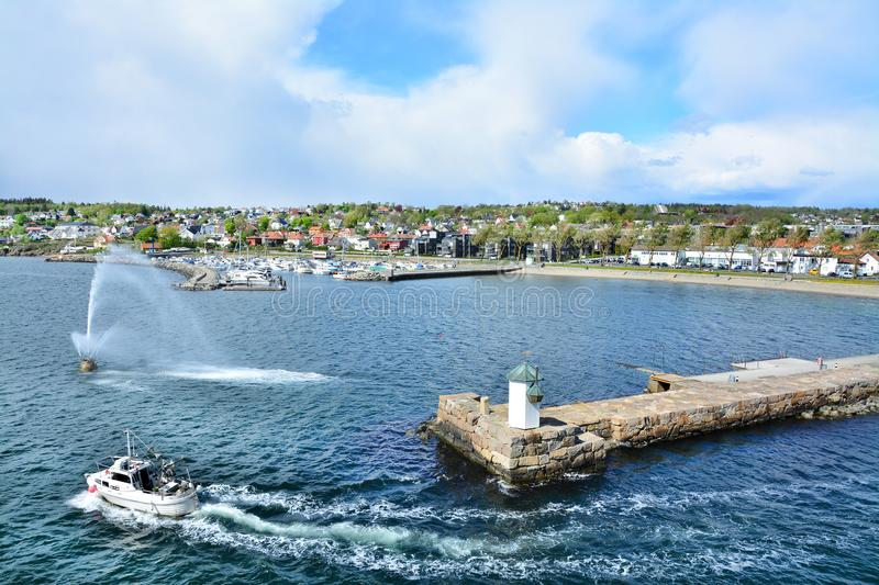 Port Moss city in Norway royalty free stock photos