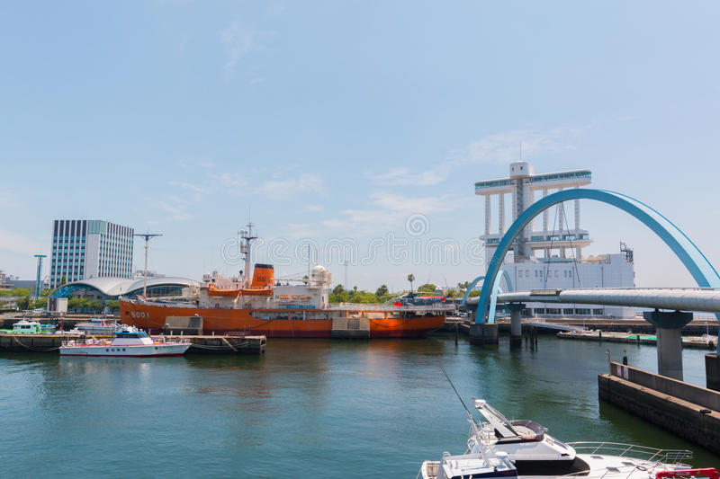 Port of Nagoya, located in Ise Bay, is the largest and busiest t stock photography