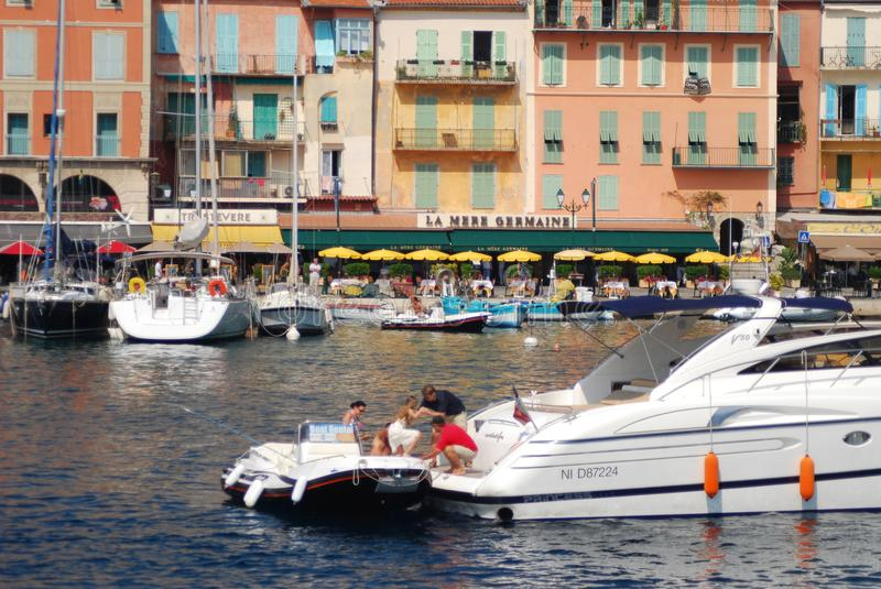 Port of Nice, waterway, boat, water transportation, boating stock photo