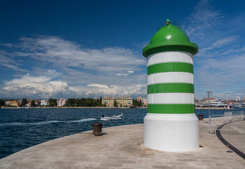 Port och marina av Zadar i Kroatien royaltyfri fotografi