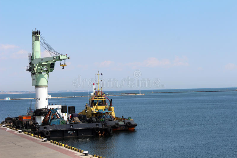 Port Odessa, Ukraina obraz royalty free